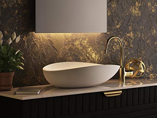 """Aquatica Lotus 24.5"""" Luxury Bathroom Vessel Sink 