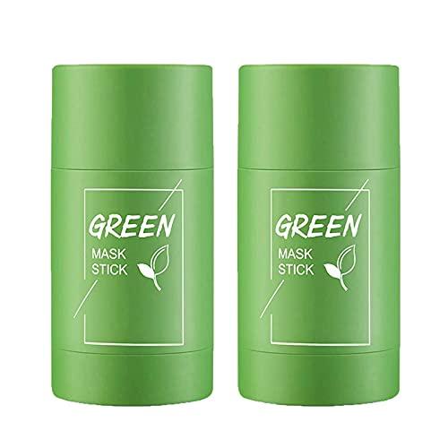 2 Piezas Barra De Arcilla Purificadora De Té Verde Para La Cara, Hidrata El Control De La Grasa, Mejora La Piel, Máscara De Barra De Té Verde Purificante Para Todo Tipo De Piel