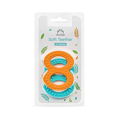 Amazon-Marke: Mama Bear Weicher Beißring, 2-er Pack