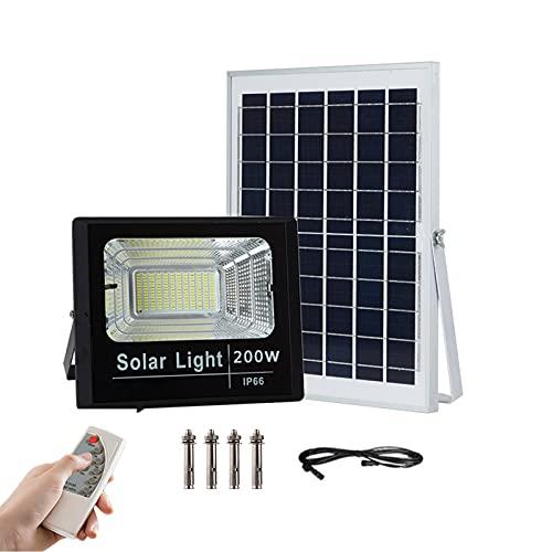 Panel Solar Proyector Exteriores Alto Brillo 200w 300w 500w, IP67 Impermeables Focos Led Exterior Solares Con Control Remoto, Sensor Luz Luces Solares De Inundación Para Cobertiz(Size:500W Wall Lamp )