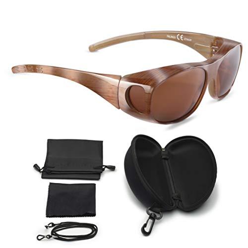 Sonnenüberbrille Überzieh Sonnenbrille FLEXI EDITION polarisiert UV 400 (Beige)