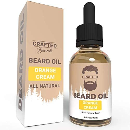 Best Beard Oil for men Crafted Beard Oil Conditioner Orange Cream Scent All Natural Beard Oil product image