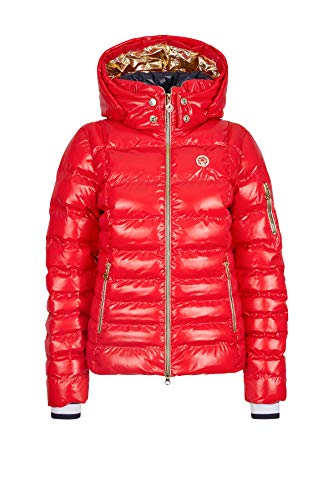 Sportalm Daunen Skijacke mit Kapuze Größe 42 EU Rot (Rot)