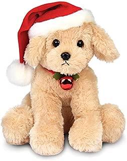 Bearington Santa's Lil' Buddy Musical Animated Holiday Stuffed Animal Toy Dog, 13 inches