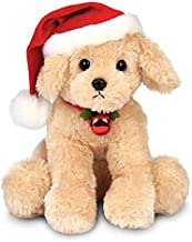 Bearington Santa's Lil' Buddy Musical Animated Holiday Stuffed Animal Toy Dog, 13