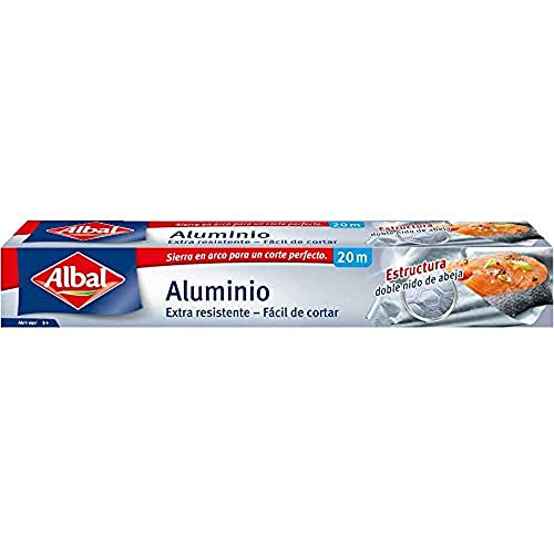 Albal Papel de aluminio, extra-resistente, fácil de cortar, 20 m