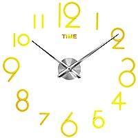 #N/A 3D大型壁掛け時計アクリルミラー表面スティック時計新築祝いの贈り物 - 15