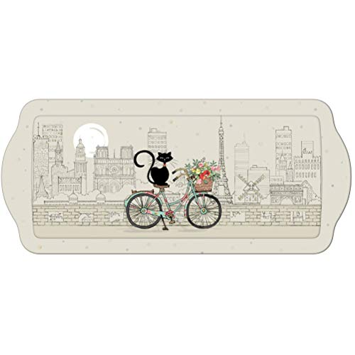 Bandeja rectangular BUG ART Gato Bicicleta