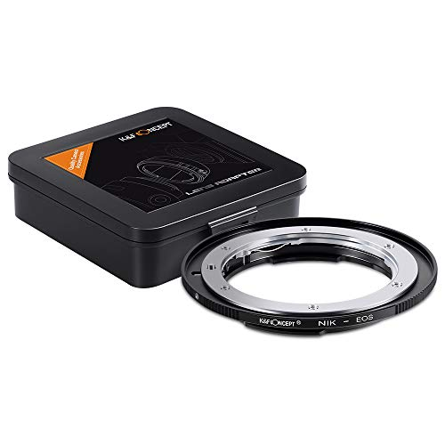 K&F Concept Lens Mount Adapter for Nikon F/AF AI AI-S Lens to Canon EOS EF EF-S Mount Adapter