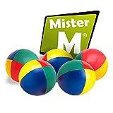 Mister M  5 Balles de Jonglerie  Remplissage Organique  avec Tutoriel Vidéo en Ligne  dans Un Sac de Jute
