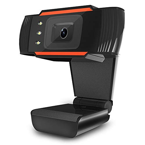 PRDECE Webcam PC 1080P Cámara TV Cámara Web PC Computadora Cámara Grabación de Video USB 2.0 Cámara Web con absorción Mic para Mac Laptop