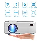 Wifi Portable Projector Bluetooth LED Wireless Smart Android Projectors 3200...