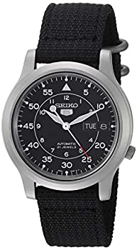 SEIKO Men s SNK809 SEIKO 5 Automatic Stainless Steel Watch with Black Canvas Strap