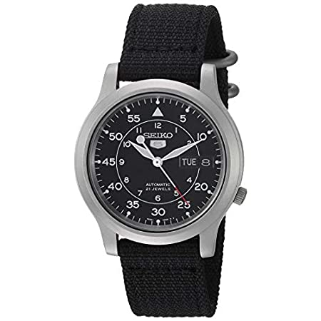 Fashion Shopping Seiko Men's SNK809 Seiko 5 Automatic Stainless Steel Watch with Black Canvas Strap