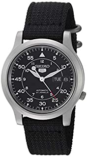 Seiko 5 Men's Automatic Watch with Black Dial Analogue Display and Black Fabric Strap SNK809K2 (B002SSUQFG) | Amazon price tracker / tracking, Amazon price history charts, Amazon price watches, Amazon price drop alerts
