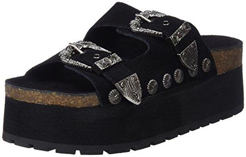 COOLWAY Bibi, Sandalias con Plataforma para Mujer, Negro (Black 000), 41 EU (Zapatos)