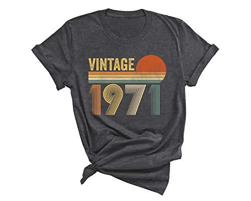 Vintage 1971 Shirt, 50 Birthday T-shirt, Fifty Birthday Party Shirt