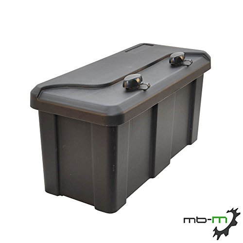 Daken BLACKIT 2 gereedschapskist opbergbox aanhangerbox voor aanhanger laadbak buitenafmetingen: breedte 550 x hoogte 250 x diepte 294 mm