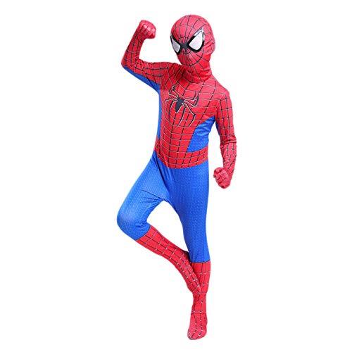 FSMJY Amazing Spider-Man Cosplay Disfraces Imprimir 3D Cuerpo Completo Cosplay Traje Jumpsuit Body Traje De Disfraces para Halloween Carnival Party Traje,90~100cm