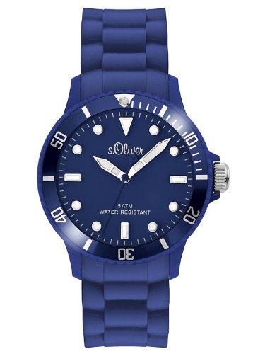 s.Oliver Unisex-Armbanduhr Analog Silikon - SO-2577-PQ - blau