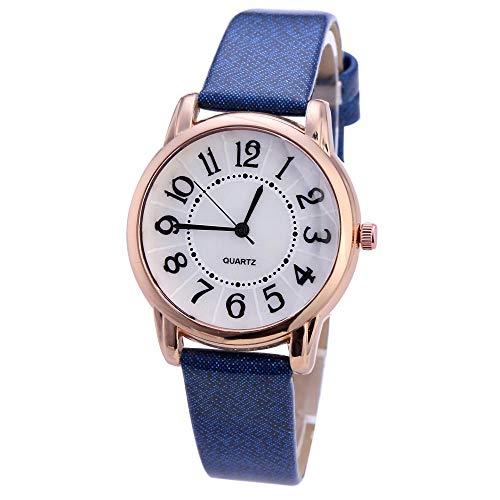 SANDA Relojes De Pulsera,Nuevo Reloj de Moda para Mujer con Reloj de Pulsera-Azul