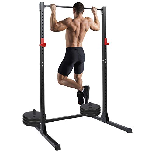 ANT MARCH Power Rack 500LB Max Load Adjustable Power Cage Squat Rack Stands for Home Gym Full Body Multi-Function Fitness Workout