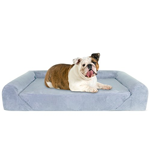 KOPEKS Deluxe Orthopedic Memory Foam Sofa Lounge Dog Bed - Large - Grey