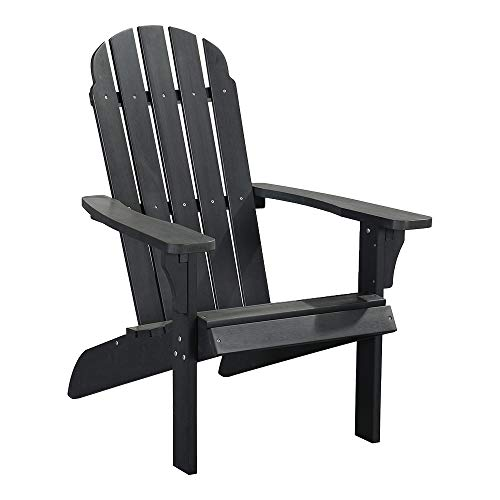 PolyTEAK Traditional Element Faux Wood Poly Adirondack Chair, White | Adult-Size, Weather Resistant,...
