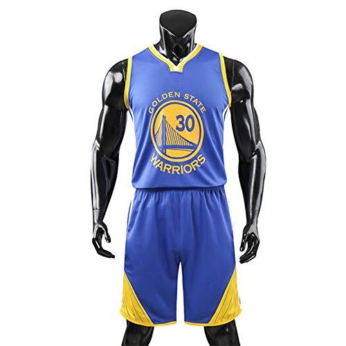 WU Magliette da Basket Stephen Curry # 30 Maglia da Basket Canotta Pantaloncini Estivi NBA Golden State Warriors Jersey Assorbimento di umidità e traspirabilità,2XL