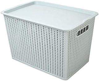 Lpiotyucwh Paniers et Boîtes De Rangement, 1 pièce Boîte de rangement ménage de grande capacité Plastique Vêtements de sto...