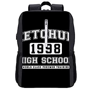 41HrOBz+zyL. SS300  - Ketchum High School Monster Of The Pocket Mochila para portátil con puerto de carga USB
