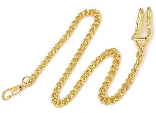 Ersatz-Kette für Taschenuhr Kette Anhänger Farbe Gold glänzend