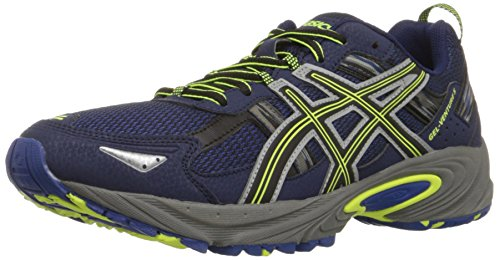 ASICS Men's Gel-Venture 5-M, Indigo Blue/Black/Flash Yellow, 11 M US