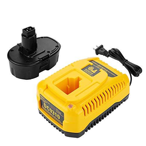 ANTRobut Replacement for 3500mAh Dewalt 18V Battery & Dewalt 18V Battery Charger DC9310 for Dewalt 7.2V 9.6V 12V 14.4V 18V Ni-Cad Ni-Mh Dewalt Battery and Charger