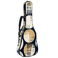 AyuStyle ギターケース アコースティック 水彩染め 幾何学模様 ギターケース ギター ケース ソフトケース ギグバッグ リュック ギグケース クッション付き 軽量