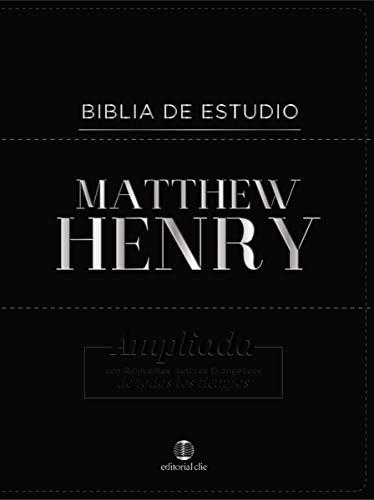 Biblia de estudio Matthew Henry - Bonded Leather con 'ndice