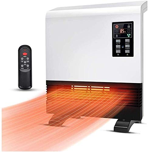 Eléctrico portáti de Aire Personal calefactor Calentador de pared 1500W Calentador de espacio Calentador de habitación con temporizador de termostato Ahorro de energía 3 modos Calentador de habitación