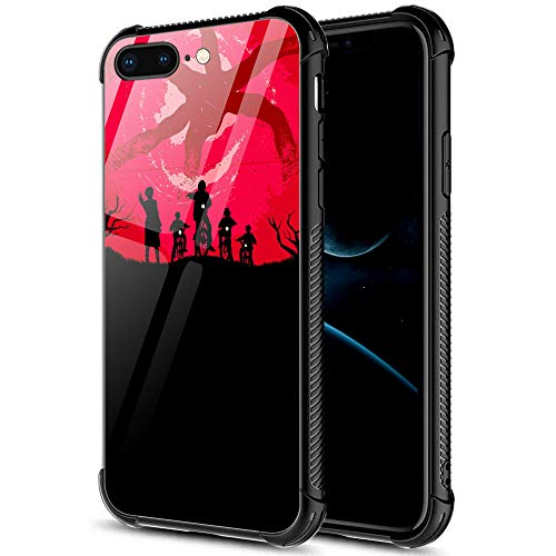 iPhone SE 2020 Case,Red And Black iPhone 8 Case,For Girls Men Boy iPhone 7 Cases,Shockproof Non-Slip Tempered Glass Pattern Design Case for Apple 7/8/SE2 4.7-inch