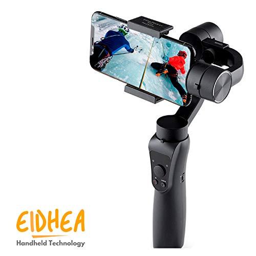 Stabilizzatore per Smartphone - iPhone - Molto facile da usare - Gimbal 3 assi S5, video, foto, selfie - Nero
