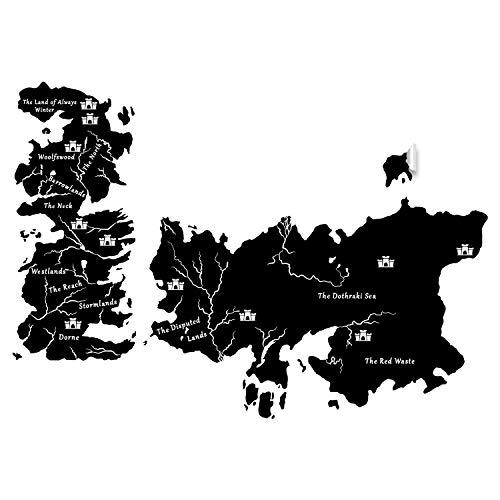 Juego de Tronos World Map Pegatina Got Westeros Regalo Vinilo Arte Gran Calcomanía TV Show Martin Vantage EOS Mural Dibujado Westerns DIY