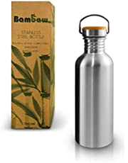Metalen Waterfles | Drinkfles | Herbruikbare Waterfles | Duurzame Drinkfles | Plasticvrij en Lekvrije Roestvrijstalen Waterfles | 500ml Eco Drinkfles | Waterfles BPA Vrij | Zero-Waste | Bambaw