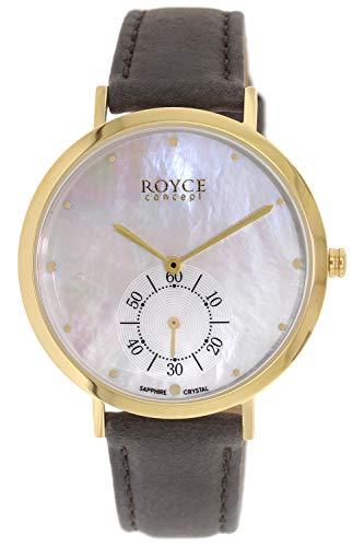 Boccia Titan-Uhr für Damen Gold/Braun Royce 3316-05