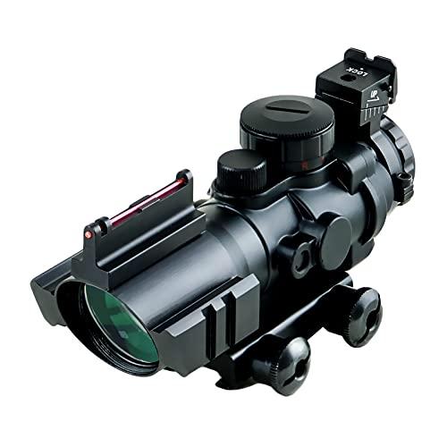 4X32LJ Luftgewehr-Zielfernrohr 4X32mm Rot / Grün / Blau Beleuchtetes Quick Beam Absehen Airsoft Red Dot Sight Scope mit überlegenem Fiber Optic Sight