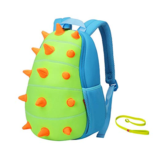 NOHOO Kids Backpack Toddler Backpack with Leash Kids Dinosaur Backpack Cute Preschool Animal Schoolbag for Age 3-7 Child Toddler