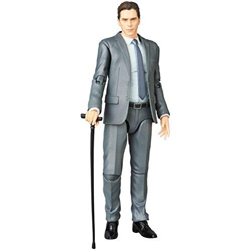 Medicom The Dark Knight Trilogy: Bruce Wayne Maf Ex Action Figure, Grey, Brown, One-Size