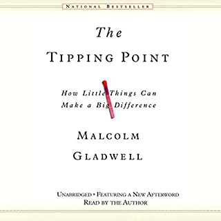 The Tipping Point     How Little Things Can Make a Big Difference              Written by:                                                                                                                                 Malcolm Gladwell                               Narrated by:                                                                                                                                 Malcolm Gladwell                      Length: 8 hrs and 33 mins     186 ratings     Overall 4.5
