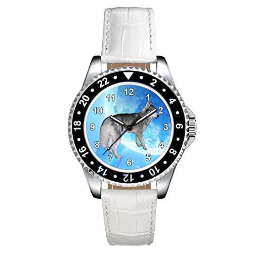 Timest - Husky Siberiano - Reloj para Mujer con Correa de Cuero...