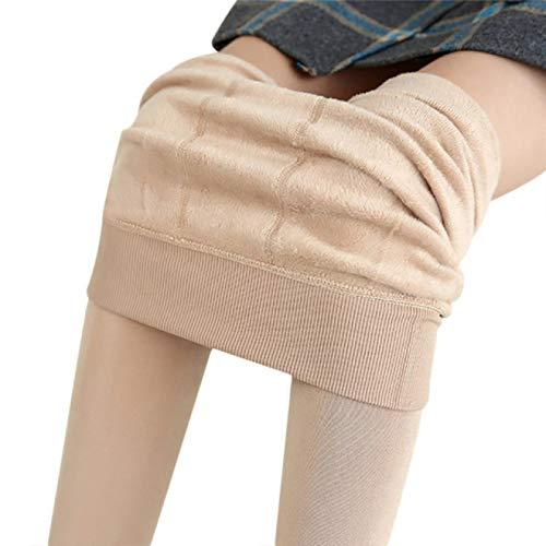 Leggings Plus Cashmere Frauen Winter Samt Hose Halten Warm Leggings Weiblich Elastisch Warm Knöchellange Legging Damen Hohe Taille Schlanke Legging L Haut