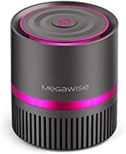 MEGAWISE H13 True HEPA Air Purifier Cleaner for Home Bedroom Small Room Office, 99.97% Filtration for Smoke, Dust, Pollen, Pet Dander, 100% Ozone Free, Night Light, Fully Certified