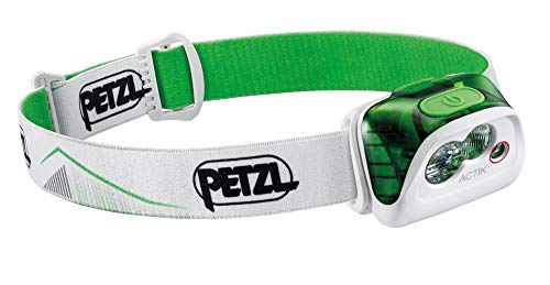PETZL E099FA02 - Linterna Frontal Actik, Color Verde